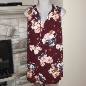 Womens sz M Old Navy floral long top
